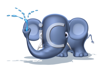 Royalty Free 3d Clipart Image of an Elephant