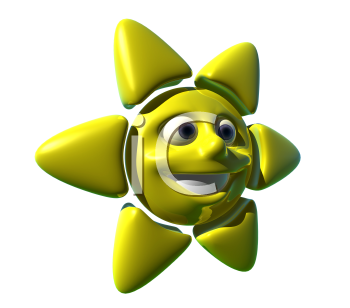 Royalty Free 3d Clipart Image of a Sun