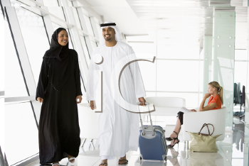 Royalty Free Photo of Passengers in an Airport