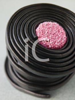 Royalty Free Photo of Rolled up Licorice Wheels