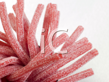 Royalty Free Photo of Fizzy Strawberry Lace Sweets