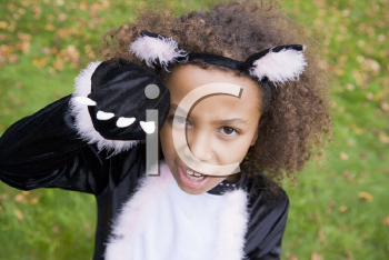 Royalty Free Photo of a Girl in a Cat Costume