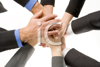 Royalty Free Photo of Stacked Hands