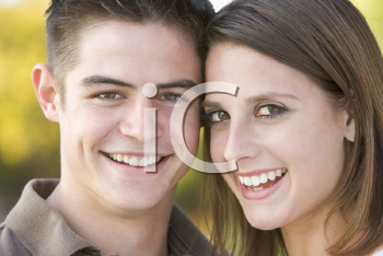Royalty Free Photo of a Teenage Couple