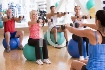 Royalty Free Photo of People in a Gym Class