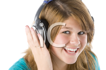 Royalty Free Photo of a Girl Listening to Music