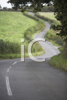 Royalty Free Photo of a Winding Road