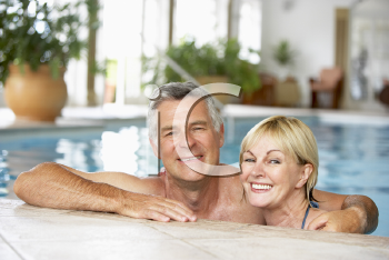 Royalty Free Photo of a Couple in a Pool