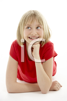 Royalty Free Photo of a Young Girl Smiling