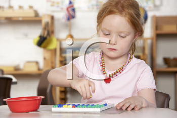 Royalty Free Photo of a Little Girl at Preschool