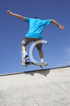 Royalty Free Photo of a Skateboarder