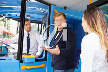 Passenger Arguing With Bus Driver