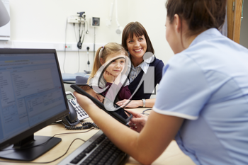 Appointment For Mother And Daughter With Nurse