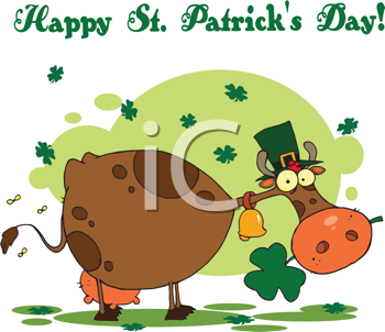 Royalty Free Clipart Image of a Happy Saint Patrick's Day Card