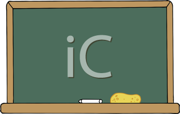 Royalty Free Clipart Image of a Chalkboard