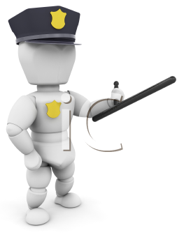 Royalty Free Clipart Image of a Policeman