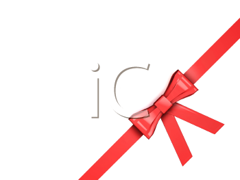 Royalty Free Clipart Image of a Ribbon and Bow