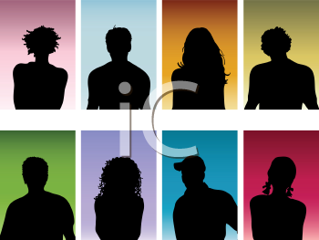 Royalty Free HD Background of Silhouettes of People