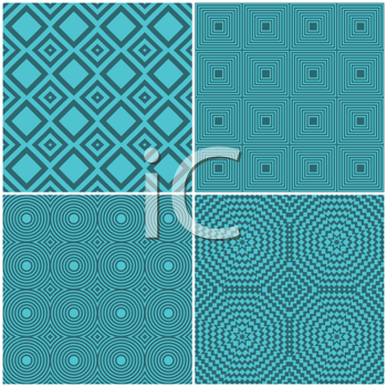 Collection of four seamless tile retro backgrounds