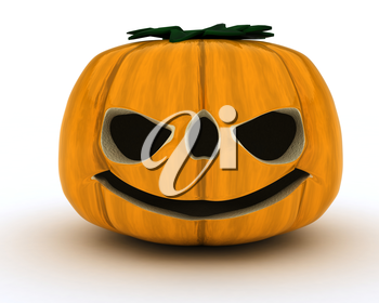 3D Render of Carved pumpkin Jacko Lantern