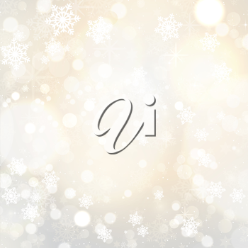 Christmas background with a snowflake and stars design