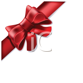Royalty Free Clipart Image of a Red Ribbon
