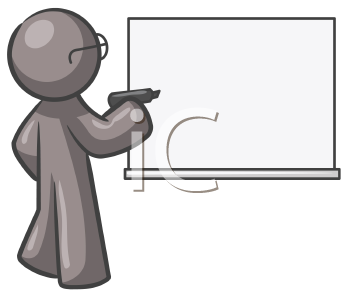 Royalty Free Clipart Image of a Guy at a Board