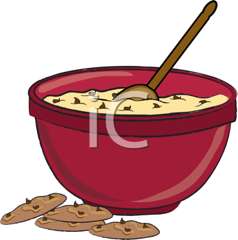 Royalty Free Clipart Image of Making Cookies