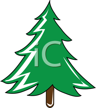 Royalty Free Clipart Image of an Evergreen Tree