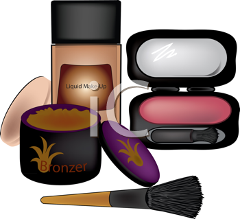 Royalty Free Clipart Image of Face Makeup