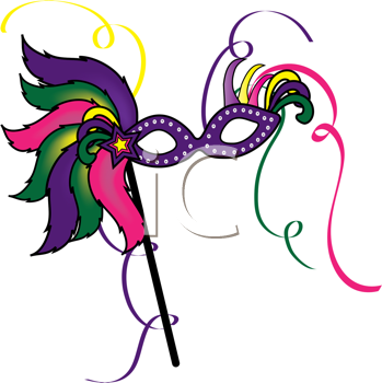 Royalty Free Clipart Image of a Mardi Gras Mask