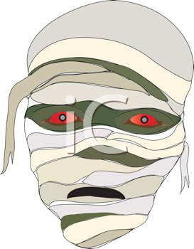 Royalty Free Clipart Image of a Mummy