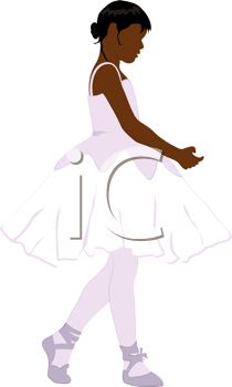 Royalty Free Clipart Image of a Little Ballerina
