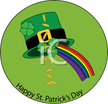 Royalty Free Clipart Image of a St.Patrick's Day Graphic