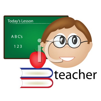 Royalty Free Clipart Image of a Teacher Icon