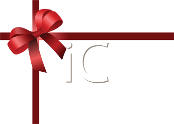Royalty Free Clipart Image of a Card With a Red Ribbon in the Corner