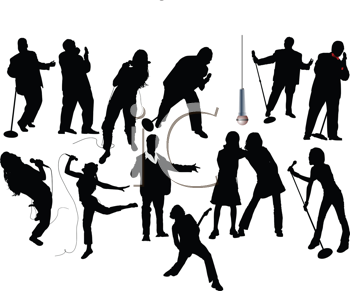 Royalty Free Clipart Image of Singers