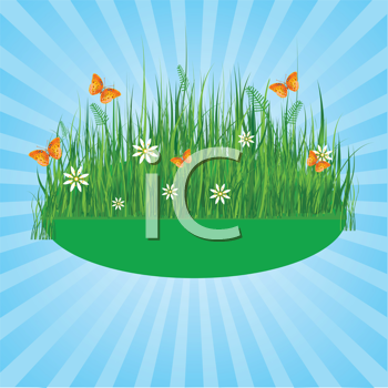 Royalty Free Clipart Image of a Summer Radial Background