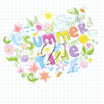 Illustration of beautiful summer design