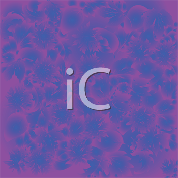 Royalty Free Clipart Image of a Blue and Purple Background