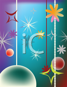 Royalty Free Clipart Image of a Christmas Design