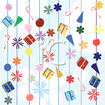 Royalty Free Clipart Image of Presents on a White Background