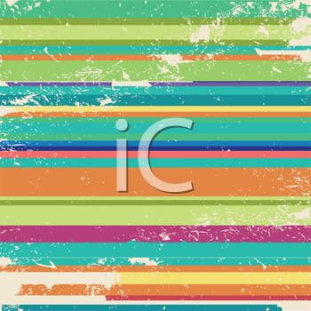 Royalty Free Clipart Image of Aged Vibrant Stripes