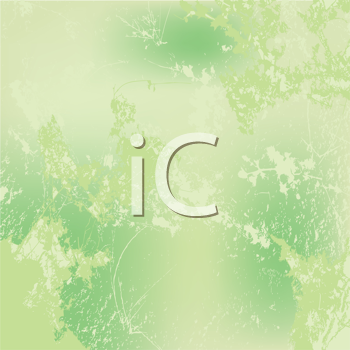 Royalty Free Clipart Image of a Green Grunge Background