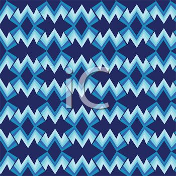 Royalty Free Clipart Image of a Blue Background With Retro Stripes