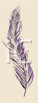 Abstract background with a stylish purlpe feather