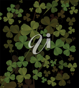Saint Patrick's day background in black and green colors. Abstract art.