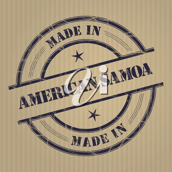 Made in American Samoa grunge rubber stamp
