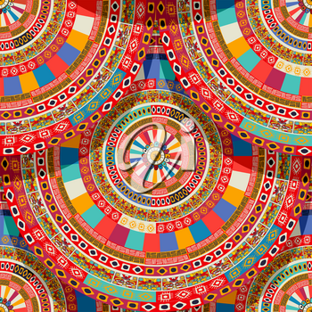 Native aztec, mayan round seamless pattern vector for your design