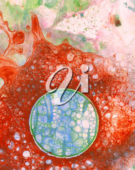 Abstract grunge background illustration in red and blue